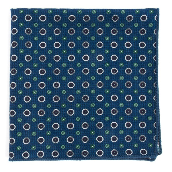 Printed Floral Replay Navy Pocket Square