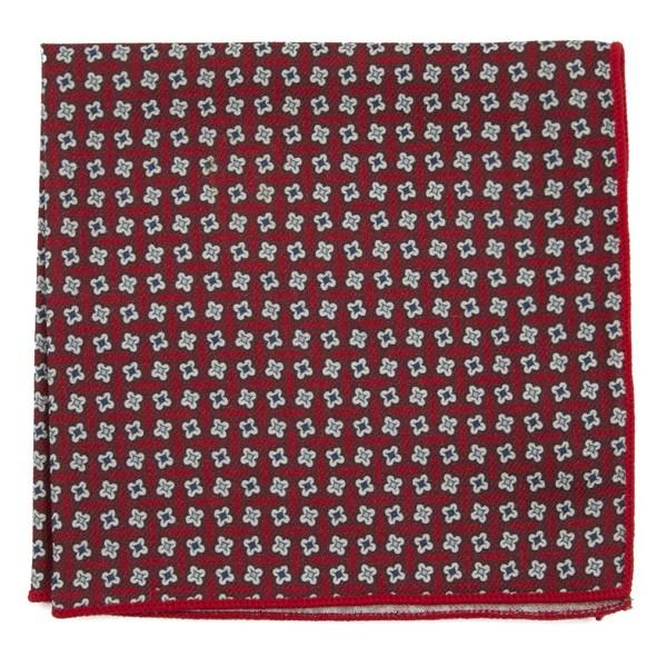 Pinwheel Print Red Pocket Square