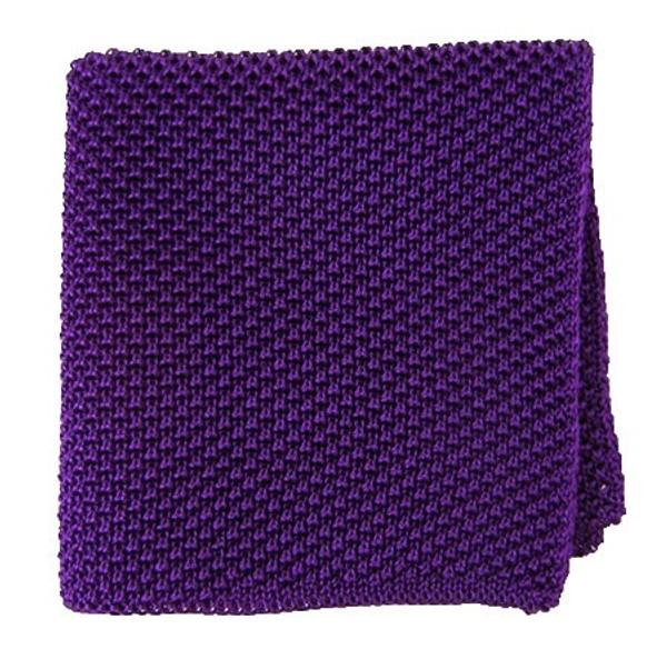 Solid Knit Plum Pocket Square
