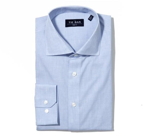 Summer Solid Blue Non-Iron Dress Shirt