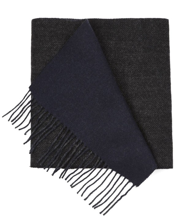 River West Solid Navy Scarf