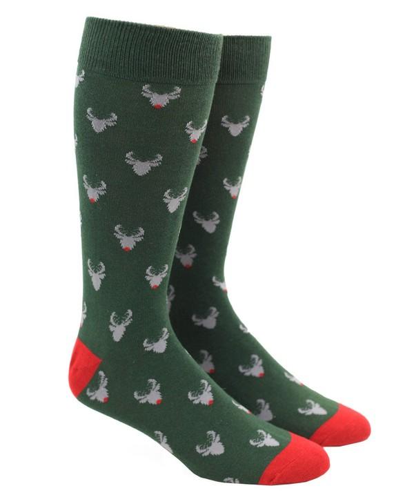 Reindeer Green Dress Socks