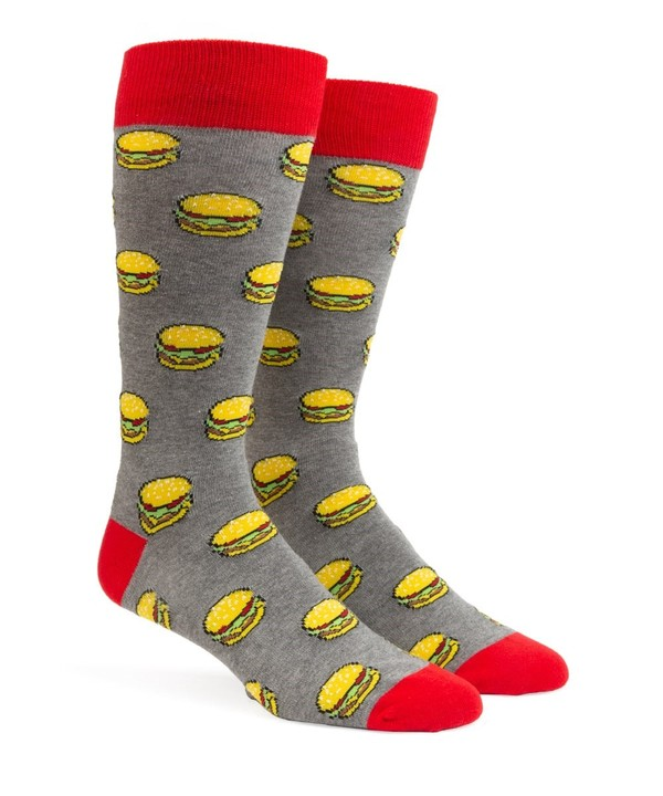 Washington Dc Hamburger Charcoal Dress Socks