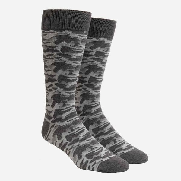 Covert Camo Grey Dress Socks