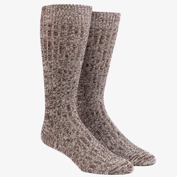 Camp Chocolate Brown Dress Socks