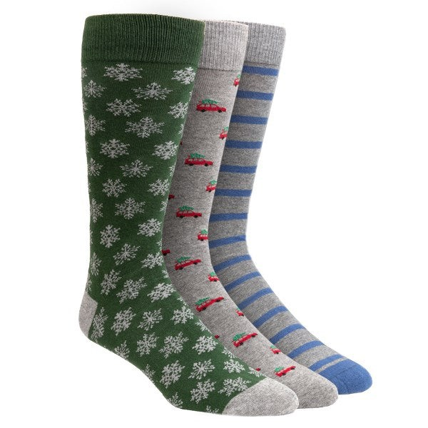 Holiday 3-Pack Red Dress Socks