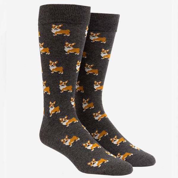 Corgi Charcoal Dress Socks