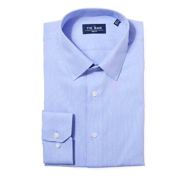Multi Dot Dobby Blue Non-Iron Dress Shirt