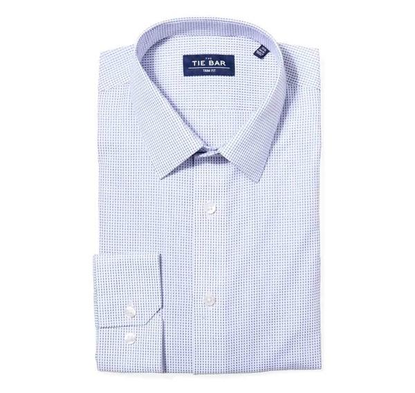 Rectangle Geo Blue Non-Iron Dress Shirt