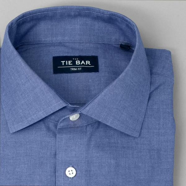 Polished Chambray Blue Dress Shirt