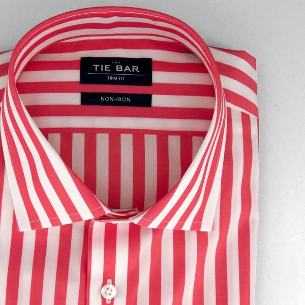 Cabana Stripe Pink Non-Iron Dress Shirt