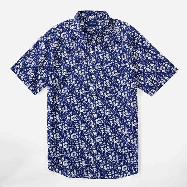 Liberty Capel Floral Navy Short Sleeve Shirt