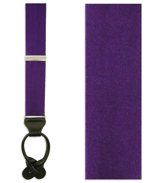 Solid Satin Plum Suspender