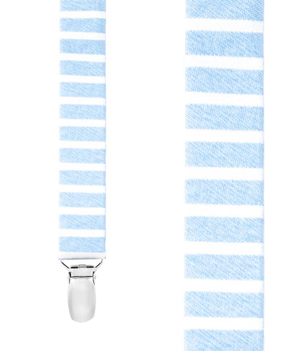 Unity Stripe Light Blue Suspender