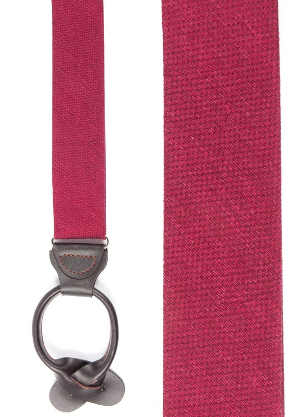 Festival Textured Solid Red Suspender