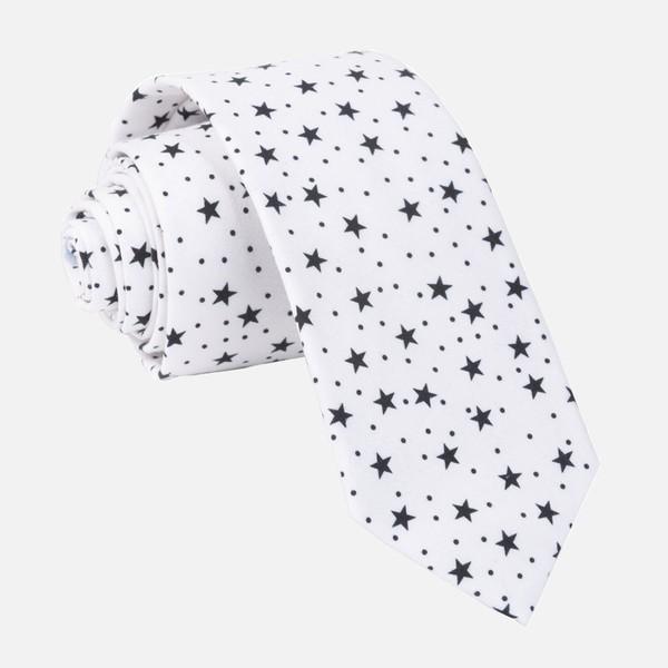 Chambray Stars Black Tie