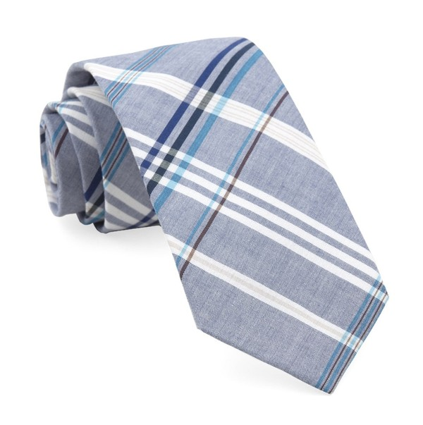 Dawson Plaid Washed Navy Tie