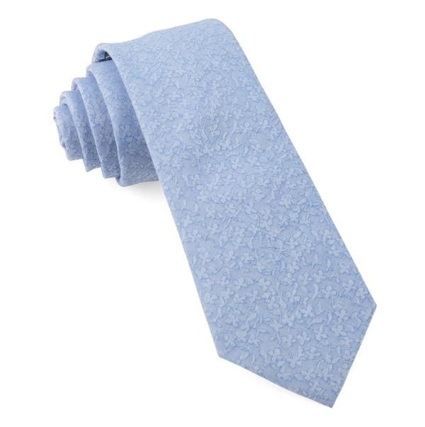 Floral Dip Light Blue Tie