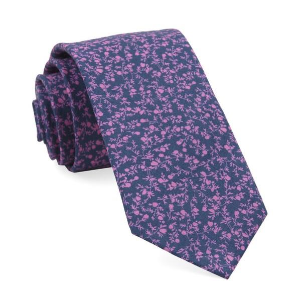 Floral Webb Navy Tie