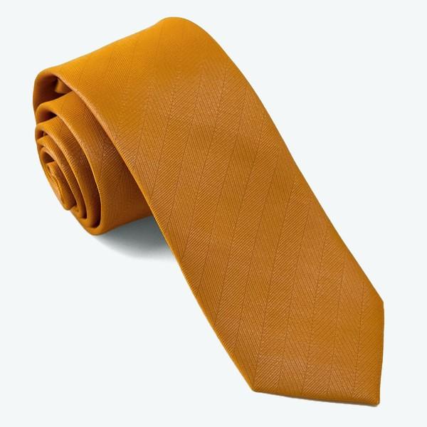 Herringbone Vow Marigold Tie