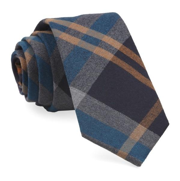 Highland Plaid Teal Tie