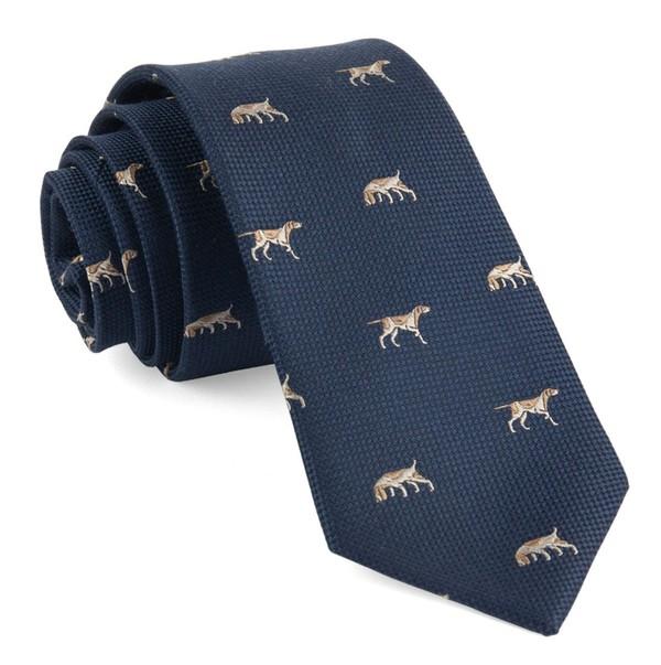 Hugill Dogs Navy Tie