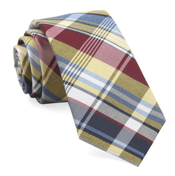 Jarrett Plaid Yellow Tie