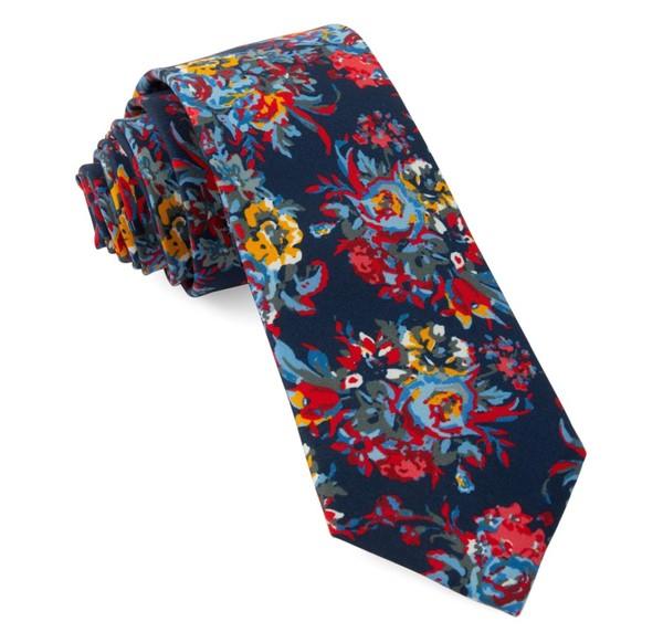 Jessi Floral Navy Tie