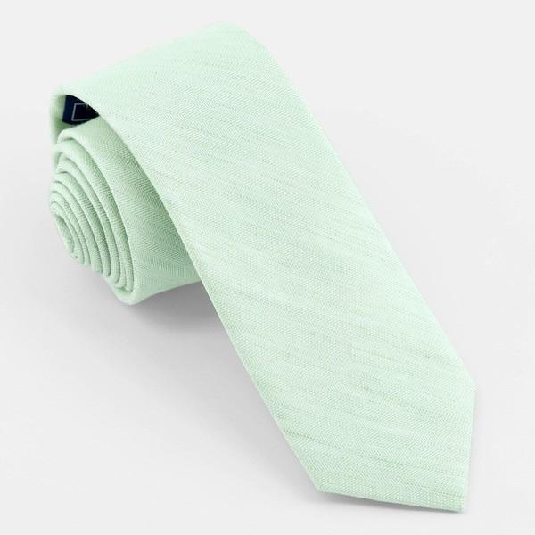 Linen Row Dusty Sage Tie