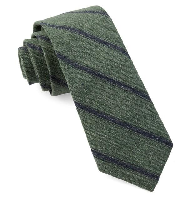 North Border Stripe Hunter Green Tie