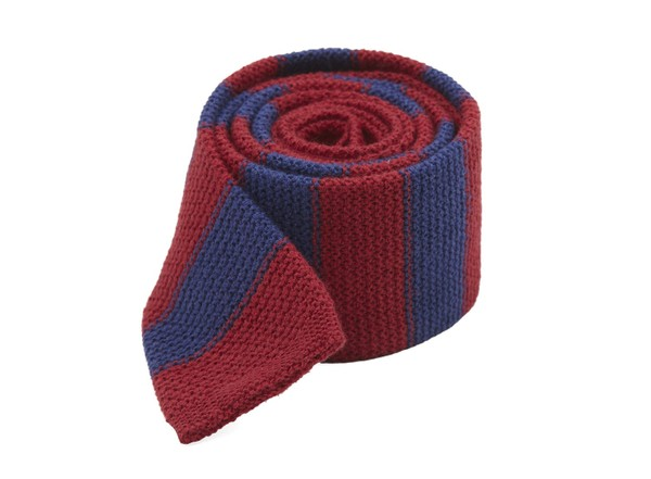Polar Stripe Burgundy Tie