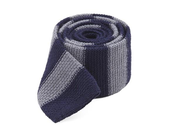 Polar Stripe Navy Tie