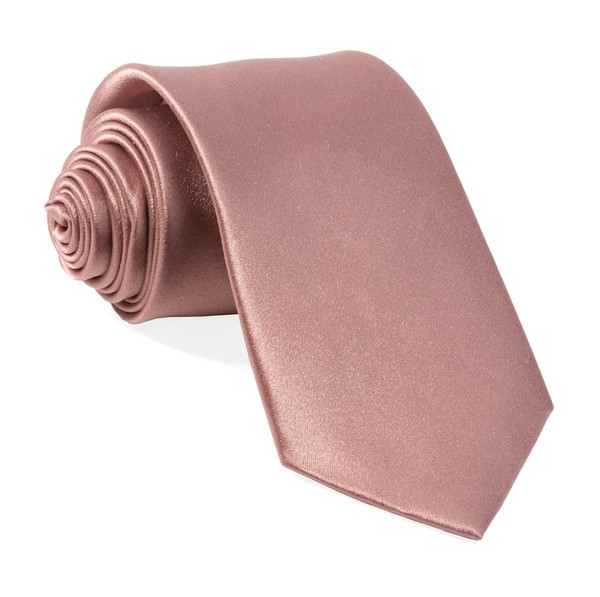 Solid Satin Mauve Stone Tie