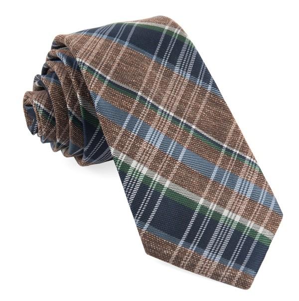 Three Lakes Plaid Brown Tie