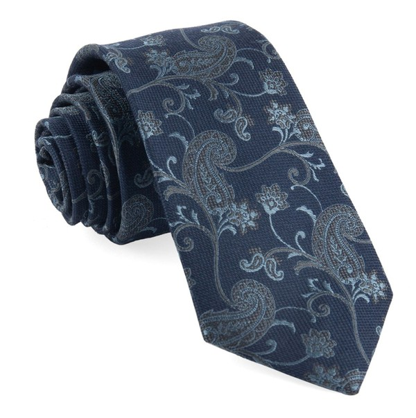Trad Paisley Navy Tie