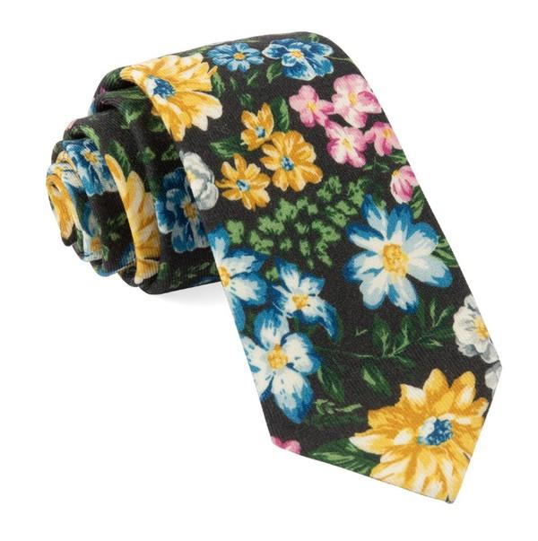 Leading Man Floral Brown Tie