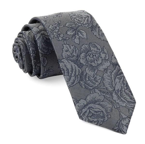 Ritz Floral Grey Tie