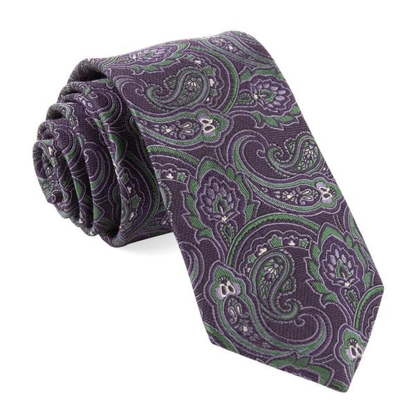 Tailored Paisley Eggplant Tie