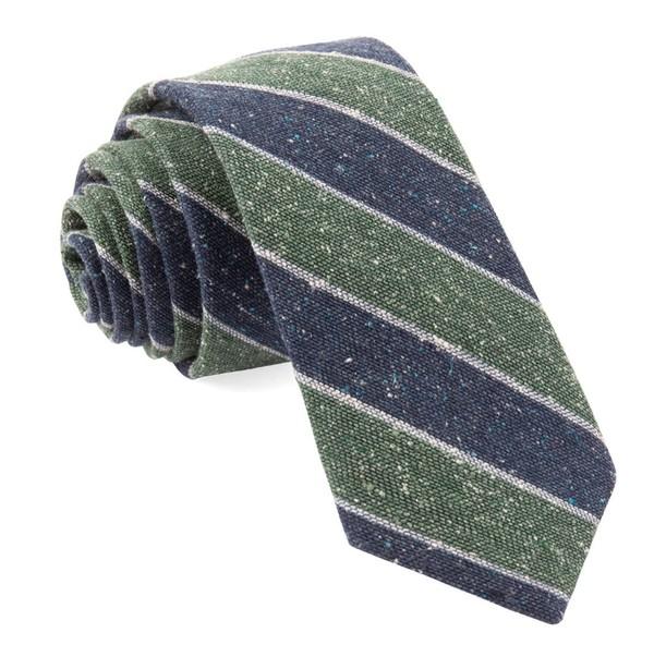 Texture Row Stripe Hunter Green Tie