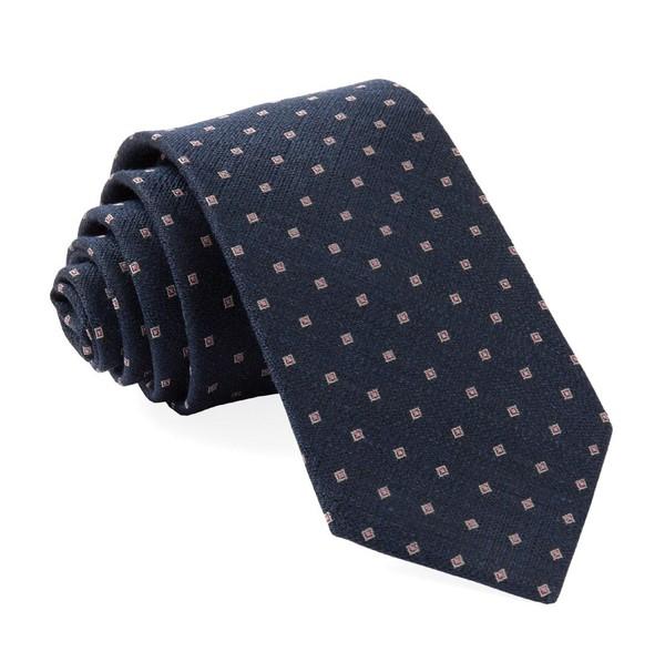 Pixel Geos Navy Tie