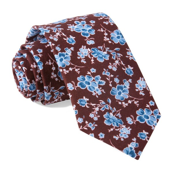 Walnut Street Floral Burgundy Tie