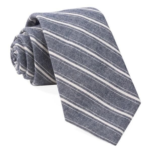 Seaboard Stripe Navy Tie
