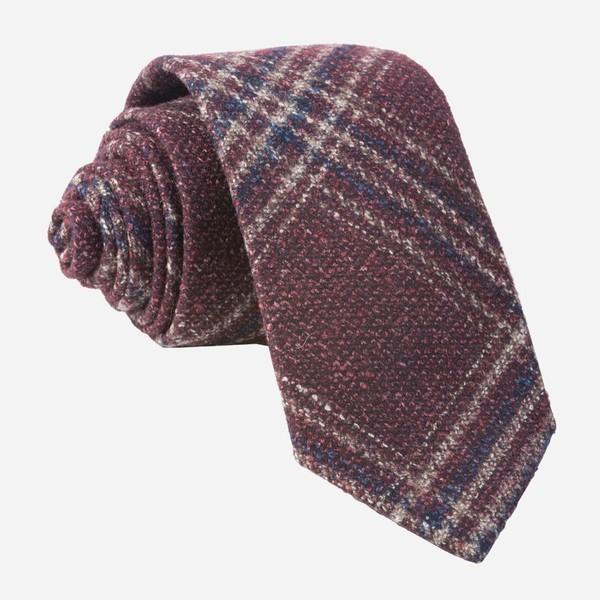 Barberis Wool Autunno Burgundy Tie