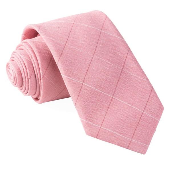 Daybreak Checks Pink Tie