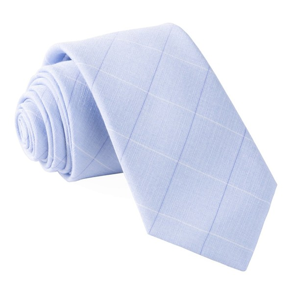 Daybreak Checks Light Blue Tie