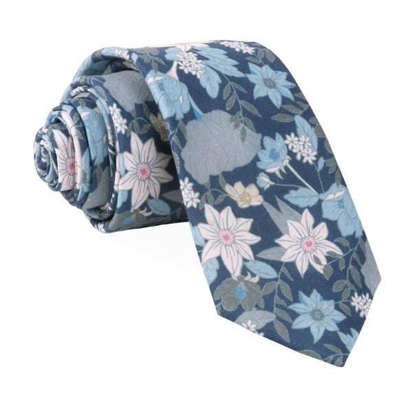 Bhldn Floral Daydream Navy Tie
