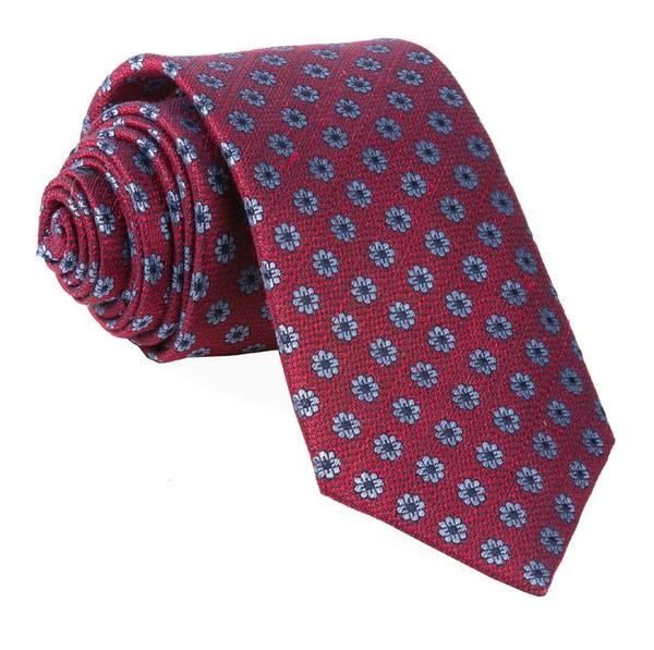 Medallion Daisy Red Tie