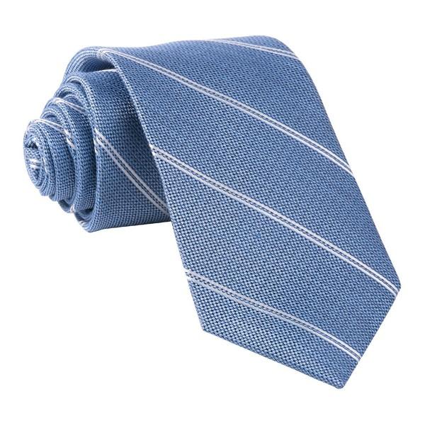 Silver Stripe Classic Blue Tie
