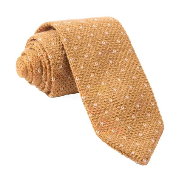 Birdseye Knit Mustard Tie