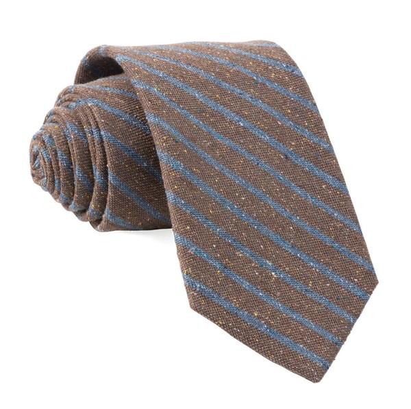 Low Tide Stripe Brown Tie